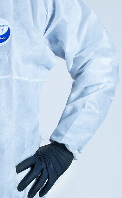 Bat-wing sleeve WeeCover Coverall allows muche grater freedom of movement