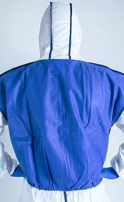 Breathable back panel Weeback Coverall to help reduce the risk of heat stress