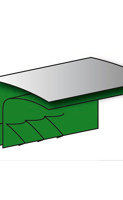 green grey taped seams