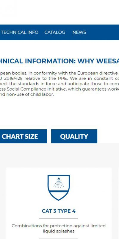 technical informations page