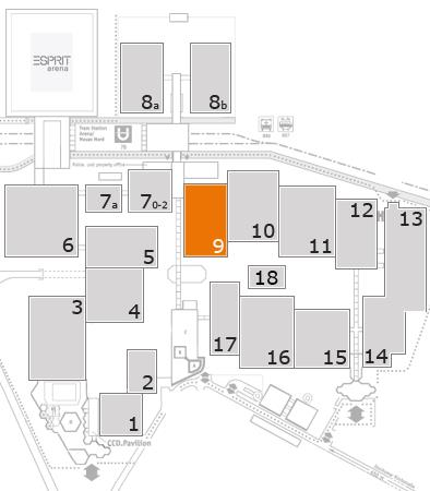 SEATING PLAN - International A+A from 2017 October 17 to 20 at DÜSSELDORF, GERMANY