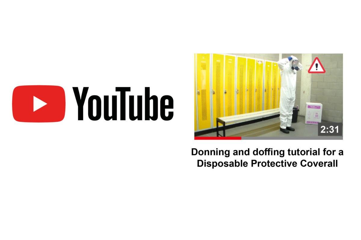 Donning and doffing turorial for a Disposable Protective Coverall (PPE) Apprentissage de l'habillage et du désabillage d'une combinaison de portection (EPI)