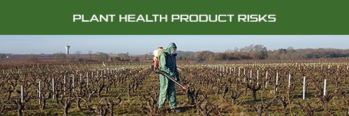 Flyer - Plant health product risks - suitable protective coverall against chemical product